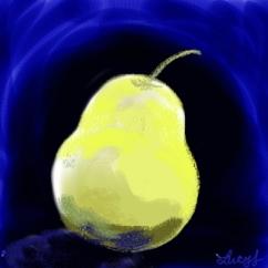 Pear - Corel Painter Digital Chalk