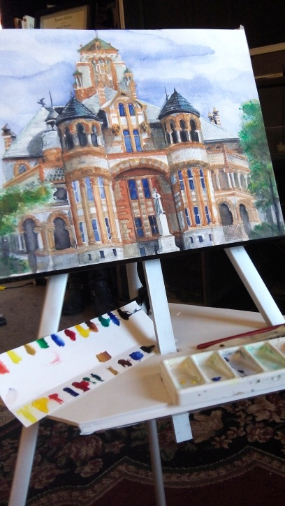 Finishing touches Waxahachie Courhouse on new Easel