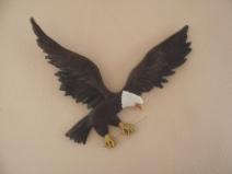 """Eagle Mascot, Paper Mache, 35"""" wide"""