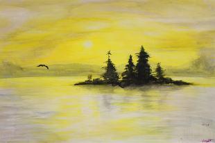 Retirement Gift - T.Jeffers - Watercolor, Acrylic, Buffed Crayon