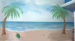 Beach Baby & Sister's Mural - Acrylic
