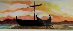 Detail 1 of UMC Fisherman Mural