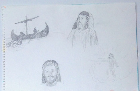 UMC Fisherman Mural Sketches