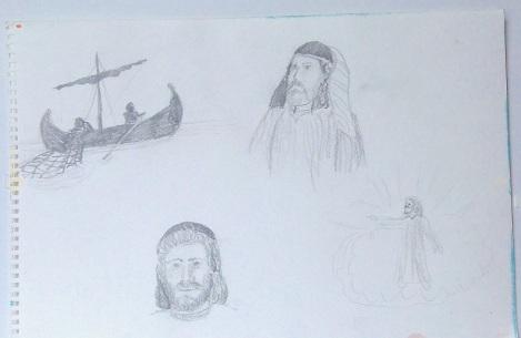 UMC Fisherman Mural Sketches
