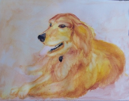 Work in progress for Jean and Dad's dog, Honey Bun