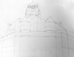 Courthouse 1 - pencil sketch