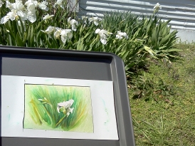 The plein air was windy.