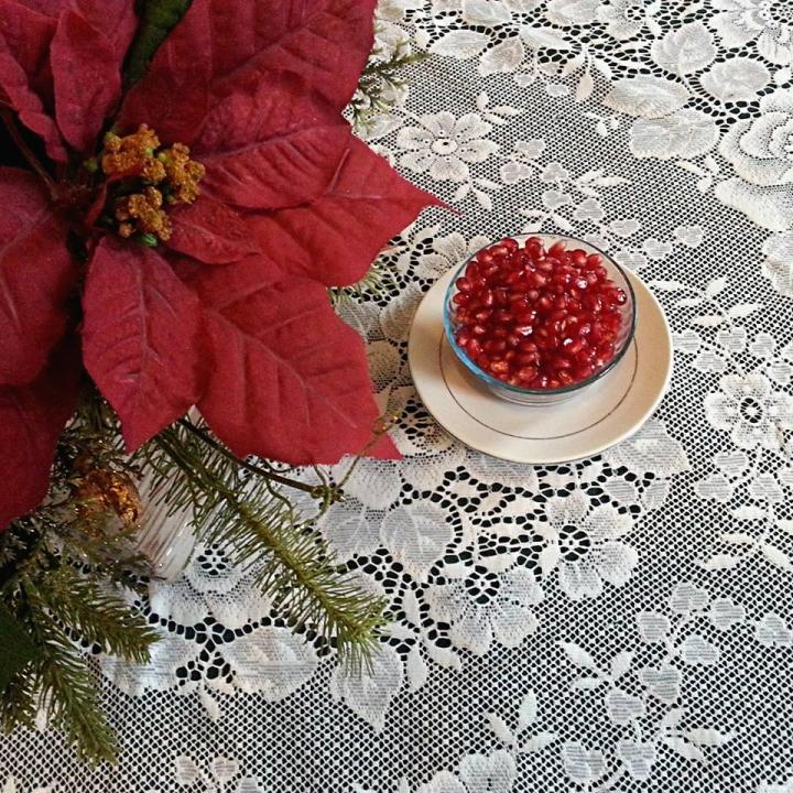 Poinsettias and Pomegranates