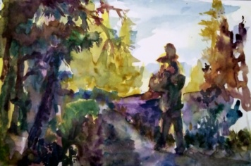 Tutorial by Artist Jennifer Branch at http://jenniferbranch.com/PaintingWatercolor/Art-Tutorials/Maine-Path-Painting-Tutorial.html