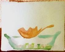 Ceramics sketch 1 leaf and pebbles