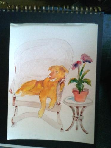 9x12 watercolor
