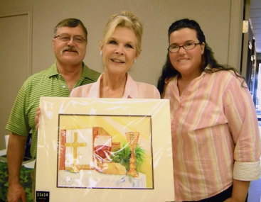 Jill and Gene celebrated their anniversary by buying one of my paintings at the auction.