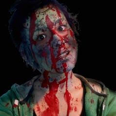 Christi blood splattered